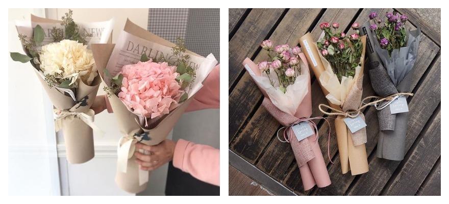 Розы для, как упаковать букет в крафт бумагу
